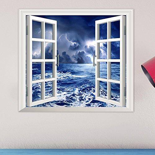 YUCH Fenêtre Stéréo 3D Étude Chambre Stickers Décoratif Mural