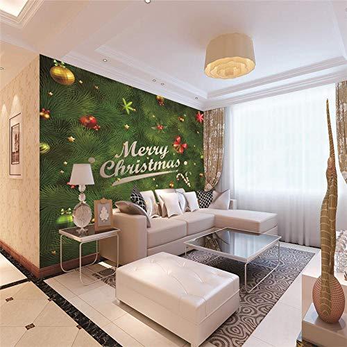 Fototapeten Weihnachtsbaum Moderne Wandbilder 3D Vliestapete für Wohnzimmer Schlafzimmer Büro Flur Dekoration 350CMx245CM