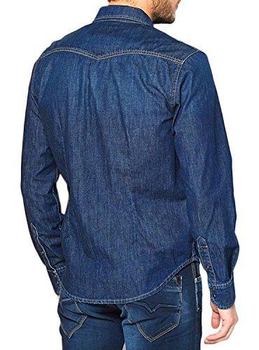 Pepe Jeans Herren Freizeit-Hemd Blue