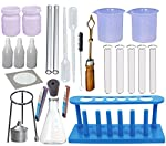 1. 50 ml Plastic Beaker (2 No) 2. Test Tube Glass (5No) 3. Test Tube Holder (1 NO) 4. TEST TUBE STAND (1NO) 5. TEST TUBE BRUSH (1NO) 6. 10 ML PLASTIC PIPET (2 NO) 7. SINGLE HOLE RUBBER CORK (1 NO) 8. 100 ML CONICAL FLASK (1 NO) 9. GLASS STRAW (2 NO) ...