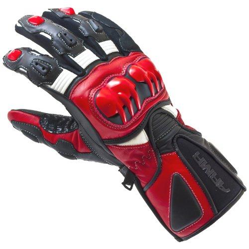 ARMR Moto SP-14 Motorrad-Handschuhe - Sport - Sommer - Leder - Schwarz/Rot - XXL