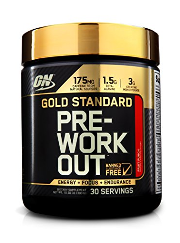 Optimum Nutrition Gold Standard Pre-Workout 30 Serve Supplement, Fruit Punch, 300 Gram by Optimum Nutrition