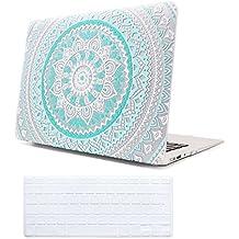 """Funda MacBook Air 13 Case Azul , iCasso Medallion Pattern Ultra Delgado Slim Dura Rígida Snap On Plástico Proteccion Matte anti-polvo de Protector Hard Cover Para MacBook Air 13"""" (modelo: A1369 / A1466)"""