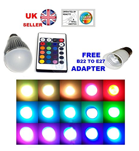 free-b22-adaptor-remote-control-colour-changing-static-led-light-bulb-edison-screw-e27-dimmable-uk-s