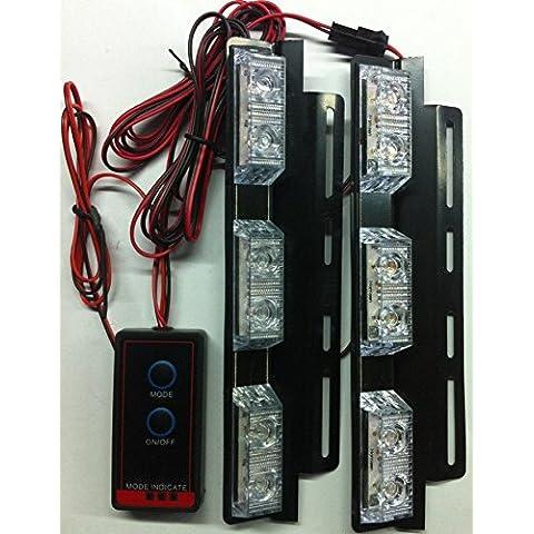 biaochi coche automático ultra slim LED 6modos de Flash 12V 4W peligro seguridad de emergencia Advertencia linterna parrilla Dash cubierta Barra de luz estroboscópica lámpara KM336