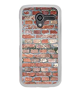 PrintVisa Designer Back Case Cover for Motorola Moto X :: Motorola Moto X (1st Gen) XT1052 XT1058 XT1053 XT1056 XT1060 XT1055 (Brick wall Pattern Brick work )
