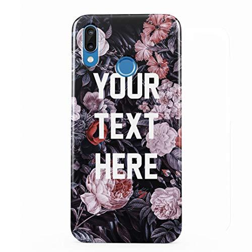 Personalized Customizable Custom Text Tumblr Motivation Or Inspiration Zitat Wilde Blume Schutzhülle aus Hartplastik Handy Hülle Kompatibel mit Huawei P20 Lite Case Hard Cover