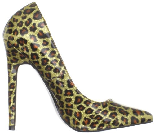 Pleaser Devious SEXY-20 Damen Pumps Gold Pearlized Pat