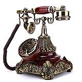 Power uk Teléfono creativo Teléfono retro americano Teléfono fijo Teléfono antiguo europeo Teléfono antiguo casero de la antigüedad
