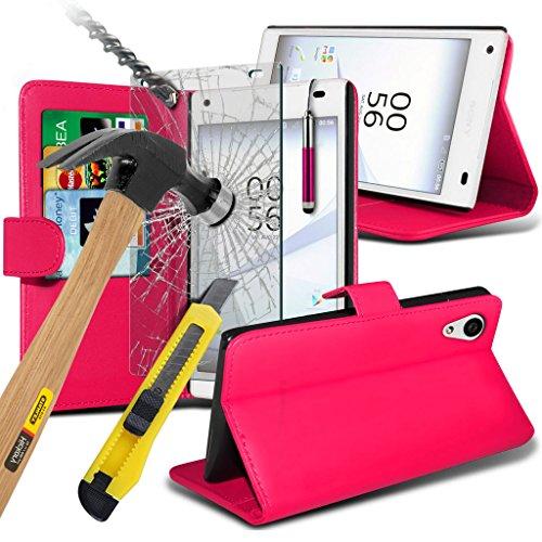 (Clear) Fall für <b>      Apple iPhone 6s hülle     </b>     Fall hochwertiges und haltbares Survivor TPU Clear Gel Case Hülle+ gehärtetes Glas Display-schutzfolien von i-Tronixs Wallet + Glass ( Hot Pink )