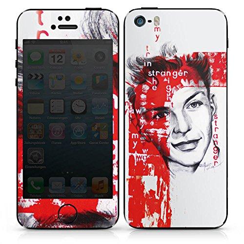 Apple iPhone 4s Case Skin Sticker aus Vinyl-Folie Aufkleber Frank Sinatra Zeichnung Mann DesignSkins® glänzend