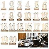 ROSENICE 1-20 nozze di legno tabella numeri titolari