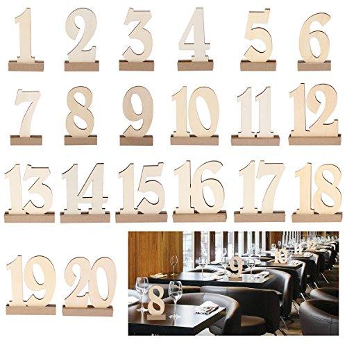 ROSENICE Holz Tabelle Karte Halter 1-20 Für Hochzeit -
