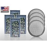 PLAT FIRM SEMILLAS DE GERMINACION: 3x tapa Micro Green + 36G 900 S: USDA Organic 4 Lentils Mezclar semillas de brotes con tapa de masilla MicroGreen 1g-1lb