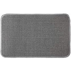 Primaflor - Ideen in Textil Katzen-Kratzmatte Katzenteppich - Grau 0,67m x 1,40m, Sisal, Rutschhemmend - Sisal-Matte, Geeignet für Fußbodenheizung, Sisalteppich für Wand & Boden