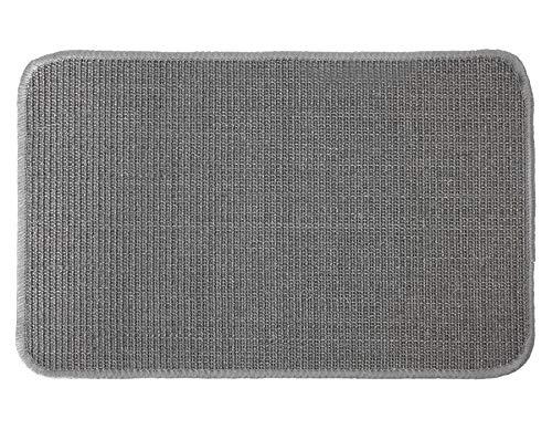 Primaflor - Ideen in Textil Katzen-Kratzmatte - Grau 0,40m x 0,60m, 100% Sisal, Rutschhemmend - Sisal-Matte, Geeignet für Fußbodenheizung, Sisalteppich für Wand & Boden