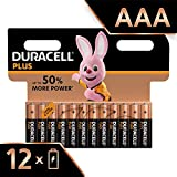 Duracell Plus, lot de 12 piles alcalines Type AAA 1,5 Volts LR03 MN2400 (visuel non contractuel)