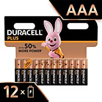 Duracell Plus AAA Alkaline Batteries, 1.5 V LR03 MN2400 (Packaging May Vary), Pack of 12