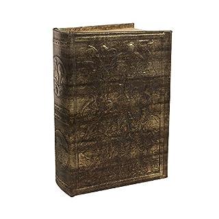 zeitzone Hohles Buch mit abschließbarer Metallbox Geheimfach Antik-Stil Buchversteck 26c