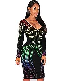 14edb7cf5f8 serliy langärmliges Kleid Langarm kleiderrotes Kleid Lange schöne  Abschlusskleider Kleider Sommerkleider Frauen Reizvolle Sexy Verband  Cocktail