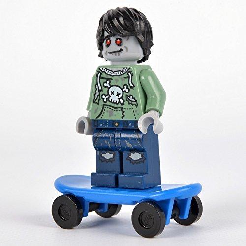 Genuino Lego Zombie Skater Minifigura - Sin Envasar