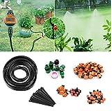 FIXKIT 30M/40M Automatik Micro Drip Bewässerung Kit, Bewässerungssystem, geeignet für Gartenbewässerung und DIY, mit automatischem Sprinkler