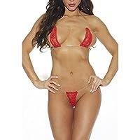YanHoo Ropa Interior, Encaje De Mujer Lencería Sexy Bikini Intimates Ropa Interior Tanga Tanga Conjunto
