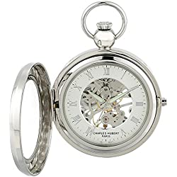 Charles Hubert 3849 Mechanical Picture Frame Pocket Watch
