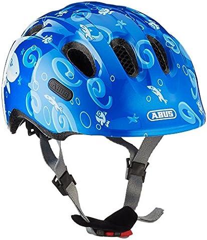 Abus Jungen Smiley 2.0 Fahrradhelm, Blue Sharky, 50-55 cm