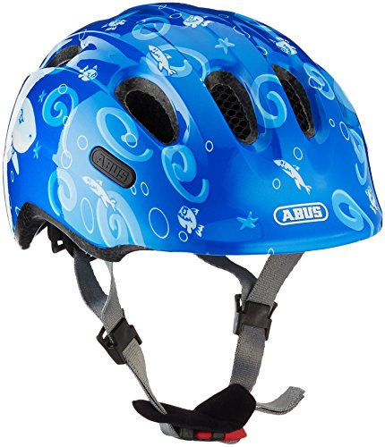 Abus Jungen Smiley 2.0 Fahrradhelm, Blue Sharky, 50-55 cm Kinder-sailor Girl