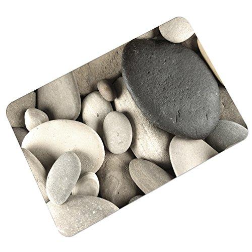 YOUJIA Fußmatte Kopfsteinpflaster Muster Sauberlaufmatte Fußabstreifer Türfußmatte Eingangsmatte Türmatte (Stein #7, 45 * 75cm)