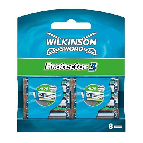 Wilkinson Sword Protector 3 Rasierklingen für Herren Rasierer, 8 St