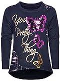BEZLIT Mädchen Pullover Wende-Pailletten Kinder Sweatshirt Pulli Langarm-Shirt 22907 Navy 134