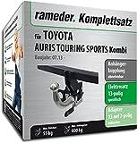 Rameder Komplettsatz, Anhängerkupplung abnehmbar + 13pol Elektrik für Toyota AURIS Touring Sports Kombi (117424-11280-1)