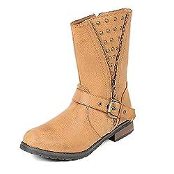 TEN Beige Leather Boots
