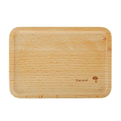 MagiDeal Plats à Gâteau Assiette Plate Rectangulaire en Bois Décoration pour Cuisine Restaurant