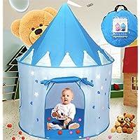 Carpa plegable, WER tienda campaña infantil para niños/ casa de juego en forma de castillo - Azul