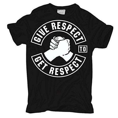 Männer und Herren T-Shirt Give Respect to get Respect Körperbetont schwarz