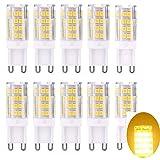 G9 LED Lampe Warmweiss - G9 LED Leuchtmittel Birne 5W 420LM Kein Flimmern, 360°Abstrahlwinkel, Ersatz für 40W Halogen,G9 LED-Glühbirne 10er-Pack