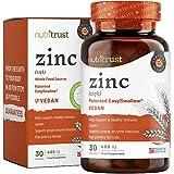 Zinco 400IU Compresse Nutritrust® - Formula Alta Potenza Fonti Naturali Aiuta un Sistema Immunitario Sano e Aiuta la Corretta Funzione Enzimatica del Corpo Facile da Ingerire per Uomini e Donne