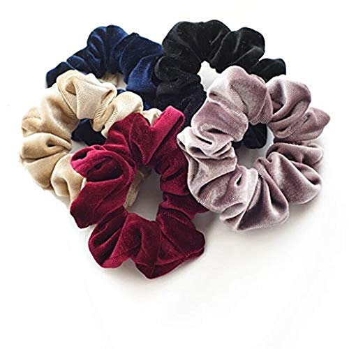 LUGOW Damen Stirnband 40 Pcs Velvet Elastic Haarband Turban Haarschmuck Yoga Stretchy Headwraps Stirnbänder Schweißableitendes Haarreife Haarspangen Haargummis(Mehrfarbig)