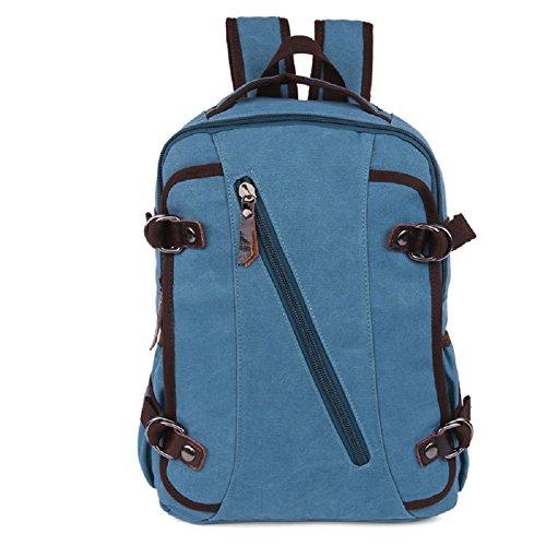 LF&F Neue beiläufige Art und Weiseschulterbeutel Kursteilnehmerbeutel Laptoptasche Sportrucksack Multifunktionslager-Mappenbescheinigungstasche Unisex Blue