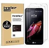 iVoler [Pack de 2] Verre Trempé pour LG X Screen [Garantie à Vie], Film Protection en Verre trempé écran Protecteur vitre (0,3mm HD Ultra Transparent)