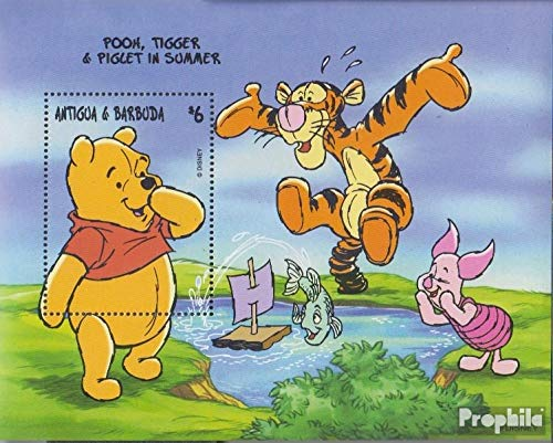 Prophila Collection Antigua und Barbuda Block391 (kompl.Ausg.) 1998 Walt-Disn.: Winnie-The-Pooh (Briefmarken für Sammler) Comics (Winnie The Pooh Sammler)