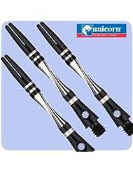 Gorgeous Unicornio Twist aluminio Dart tallos, disponible en 5colores., negro, 5