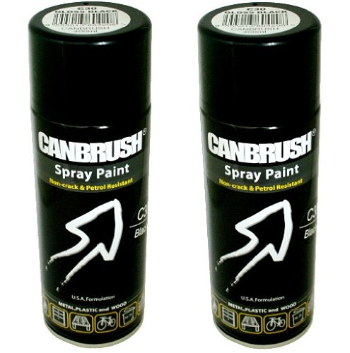 2-x-canbrush-spray-paint-for-metal-plastic-wood-400ml-gloss-finish-gloss-black