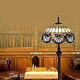 SINCERE@ 16-Zoll-Tiffany Europäischen Retro Stehleuchte Schlafzimmer Nachthochzeits-Geschenk-Dekoration Schlafzimmer Arbeitszimmer Stehlampe Minimalistische Mode