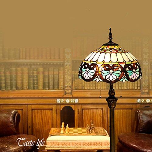 16-Zoll-Tiffany Europäischen Retro Stehleuchte Schlafzimmer Nachthochzeits-Geschenk-Dekoration Schlafzimmer Arbeitszimmer Stehlampe Minimalistische Mode