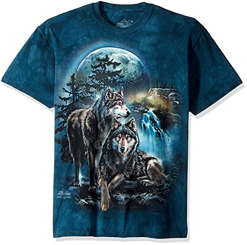 The Mountain Wolf Lookout Adult T-Shirt, Grün, 3XL -