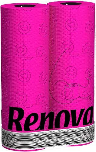 48 Rollen Renova farbiges Toilettenpapier - Fucsia/Pink (Black Label)
